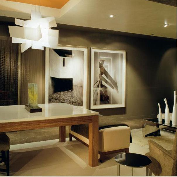 Architecture and Interior Design firm Studio Santalla's residential multipurpose living space at the Washington Design Center.