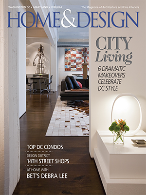 DC Architecture and Interior Design firm Studio Santalla featured on the cover of Washington Home & Design Magazine