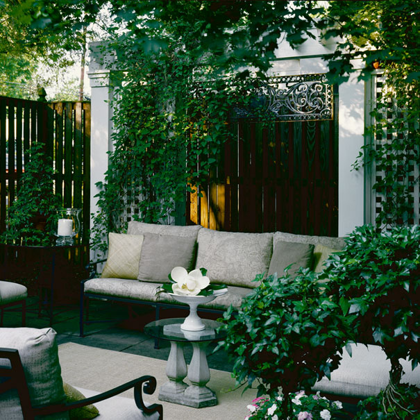 The outdoor living space of this Washington, DC colonial was featured on HGTV's Homes Across America