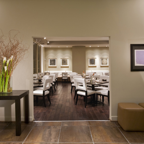 The contemporary dining room at the Flint Hill Public House by Studio Santalla
