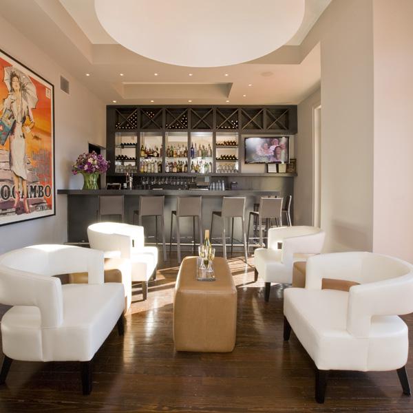 Washington, DC interior design firm Studio Santalla transformed this pub into a contemporary retreat