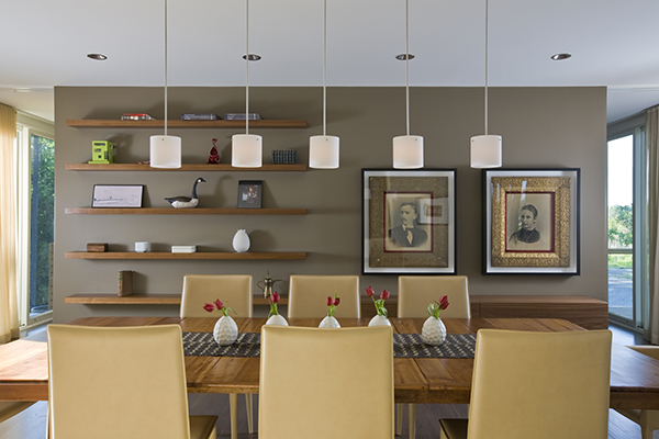Elegant modern dining room on the Eastern Shore by Washington, DC Architecture and Interior Design firm Studio Santalla