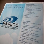 Poster/sign designed by Ernesto Santalla, PLLC—formerly Studio Santalla—for CALCC's 2012 mega networking event in Washington, DC