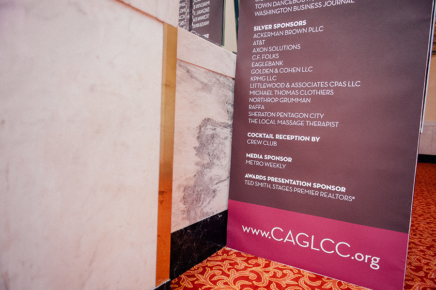 Event design and Environmental Graphics designed by Ernesto Santalla, PLLC—formerly Studio Santalla—for the CAGLCC's 2013 annual awards gala dinner in Washington, DC