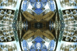 Imitation of Art XIII kaleidoscopic color photo collage by Ernesto Santalla reinterprets classic works of art