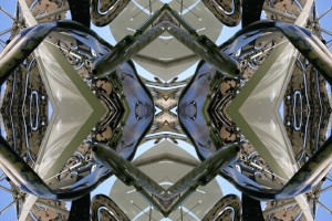 Imitation of Art XX kaleidoscopic color photo collage by Ernesto Santalla reinterprets classic works of art