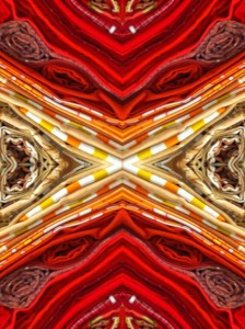 Imitation of Art XXII vibrant color photo collage by Ernesto Santalla reinterprets classic works of art