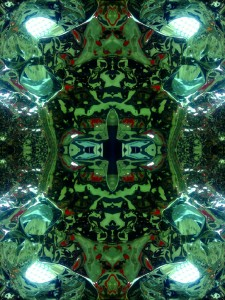 Imitation of Art XXVI kaleidoscopic color photo collage by Ernesto Santalla reinterprets classic works of art