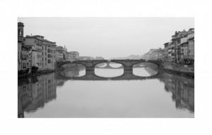 LUNGARNO black and white photograph by Ernesto Santalla