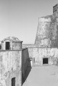 MORRO black and white photograph by Ernesto Santalla of the Morro fortress in Puerto Rico