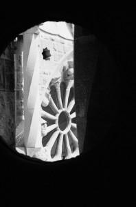 Sagrada Familia II black and white photograph by Ernesto Santalla